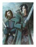 Ranger and Gondorian by OtisFrampton