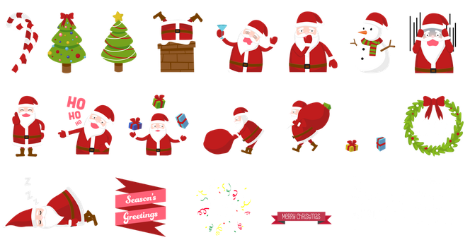 Christmas stickers by lalabell