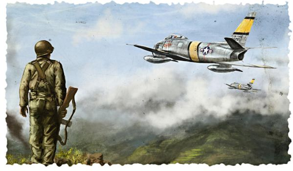 Sabres over Korea by Remton