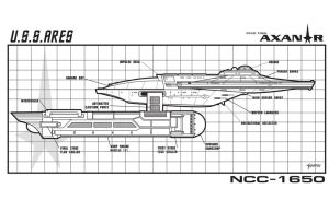 U.S.S. Ares Side Schematic by stourangeau