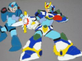 Megaman X and Blade Armor X by tanlisette