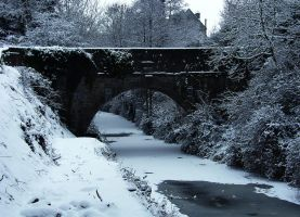 Snow Bridge by andyfloss2000
