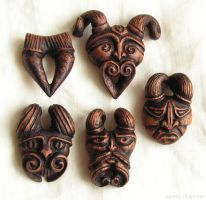 wooden pendants by AmberSculpture