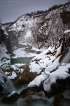 Plitvice in white 03 by ivancoric