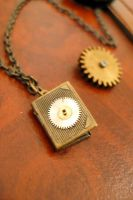 steampunk book locket 3 by teatimeinc