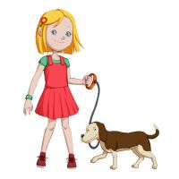 Girl and Dog by rezahales