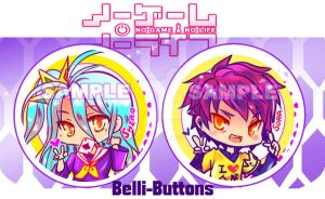 No game no life button set by jinyjin