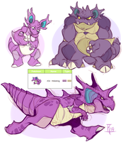 Pokedesign - Nidoking by MrsDrPepper