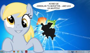 Derpy Hooves fixed my computer monitor.. by subject-Delta2