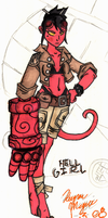 Hellgirl COLOR by PhatDoughBoy