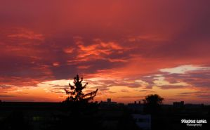 Sunset from my window by AnitaBright