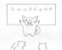 Clefairy Teaches by sunnyfish
