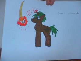 my oc Captain Blackspot by bloostormbrony