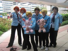 Otakon 2013 - ouran highschool host club cosplay by AdversusZero