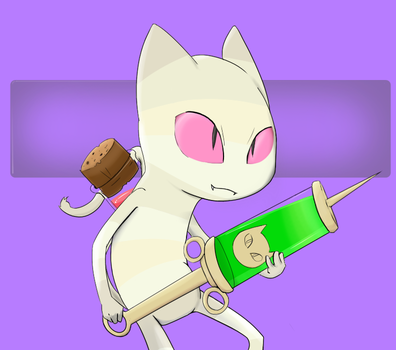 Tiny Assassin Cat by CH33ZUS
