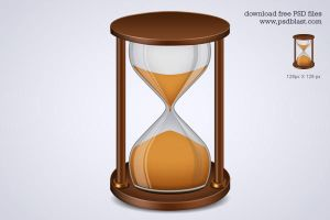 Sand Timer Icon, Hourglass Icon PSD by psdblast