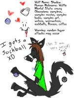 ID 2 - sockball wolfie by explodingmuffins