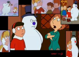 Frosty and Karen in Family guy by Lipanel