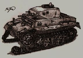 Wrecked Panzer II Ausf. G by TimSlorsky