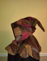 Patchwork Leather Hood side view by DanTheLefty