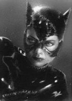 Catwoman black and white psc by Ethrendil