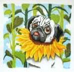 Sunflower.Pug by TanteFeluex