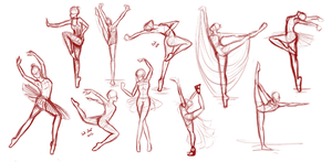 Ballet Poses by LadyOrchiid