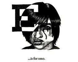 E is for Emo by scheherazade