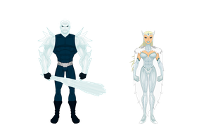 TW Minor Enemies: Ice King and Ice Queen by BSDigitalQ