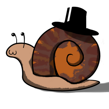 Snail with top hat by Sheepguin