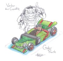Vector the Crocodile, Gator Rush concept by CyberMaroon