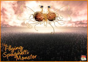FSM and the Flock of Zombies by TheDemonEtrigan