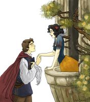 Snow White and Prince Charming by Dralamy