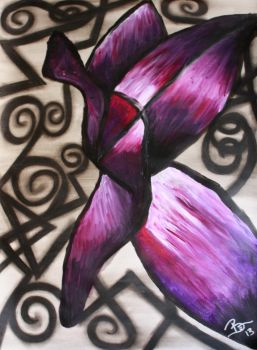 Purple Abstract Butterfly- by Bex013