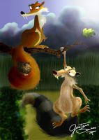 Scrat and scratte by GuGa-GuGa