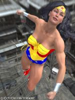 Wonder Woman takes flight by sturkwurk