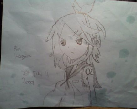 Drawing of Rin Kagamine by diamond222