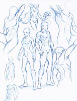 Dynamic Figure sketches by WMDiscovery93