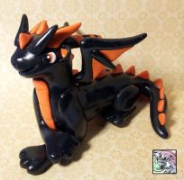Halloween Miniature Dragon Sculpture by prismaticpearls