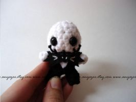 Mini Jack Skellington Amigurumi by AnyaZoe
