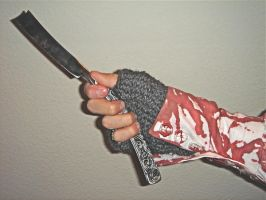 Sweeney Todd Handknit Gloves by acosplaylifeforme