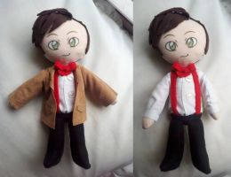 Matt Smith 11th Doctor Who Plushie by dollphinwing