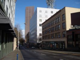Downtown Portland 001 by Zeds-Stock