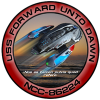 USS Forward Unto Dawn Patch by Wolfcrest1701