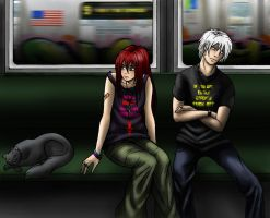 Silence On The Train by ElvenAngel