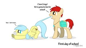 Crispy and Topas: First Day of School by Topas-Art