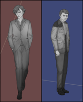 Sherlock and John by Blackdusk