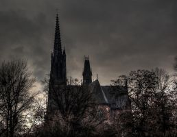 Spooky Cathedral by Maxikq