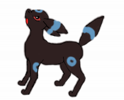 Trying to draw Umbreon(thx to DrawerElma's tut) by TintjeMadelintje101
