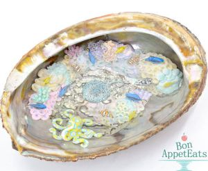 Miniature Coal Reef Inside an Abalone Shell by Bon-AppetEats
